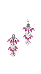 Noir Clarence Chandelier Ear Jackets Red Clear