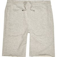 River Island Mens Grey Marl Longer Length Jogger Shorts