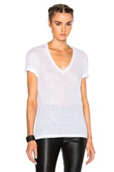 Isabel Marant Maree Linen Tee In White