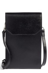 Nordstrom Leather Phone Crossbody Bag Black