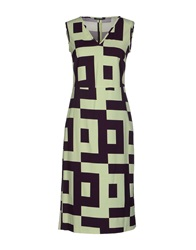 Laura Urbinati Knee Length Dresses Light Green