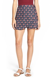 Lily White Print Woven Skort Juniors Black