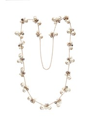 Chesca Faux Pearl Long Rope Necklace
