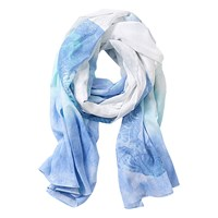 Betty Barclay Printed Cotton Scarf Blue White