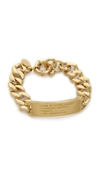 Marc By Marc Jacobs Standard Supply Id Bracelet Oro