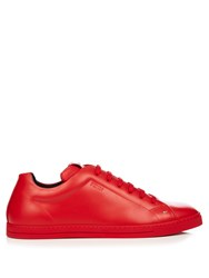 Fendi Faces Low Top Leather Trainers Red