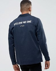 Pull And Bear Pullandbear Worker Jacket In Navy Navy Blue