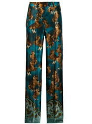 F.R.S For Restless Sleepers Owl Print Trousers Blue