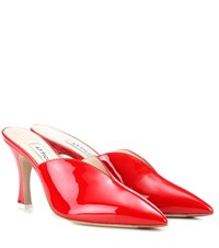 Attico Monica Patent Leather Mules Red