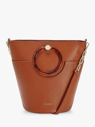 Ted Baker Aniie Leather Circle Hobo Bag Mid Brown