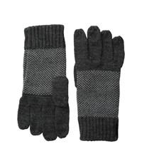 Calvin Klein Birds Eye Gloves Charcoal Extreme Cold Weather Gloves Gray
