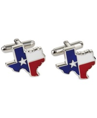 Geoffrey Beene Texas Shape And Flag Cufflinks Red White Blue