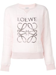Loewe Quilted Sweatshirt Pink And Purple