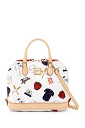 Dooney And Bourke Tigers Zip Zip Satchel White