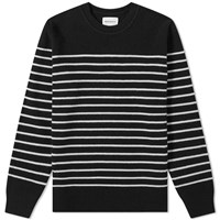 Norse Projects Verner Normandy Stripe Knit Black