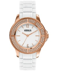 Versus By Versace Watch Women's Tokyo White Rubber Strap 42Mm Sgm07 0013