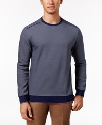 Tasso Elba Men's Jacquard Knit Sweater Only At Macy's Navy Combo