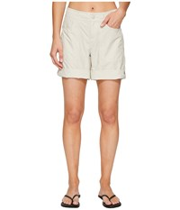 The North Face Horizon 2.0 Roll Up Shorts Desert Shale Tan Heather Women's Shorts White