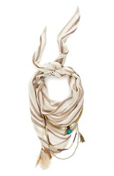 Women's Bcbgeneration Layered Triangle Scarf Beige Champagne