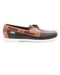 Sebago Docksides Spinnaker Black And Brown Boat Shoes