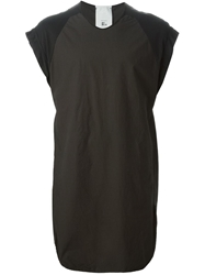 Lost And Found Panelled Long Tank Black