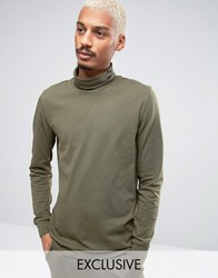 Puma Longsleeved Turtle Neck T Shirt In Green 57444001 Green Brown
