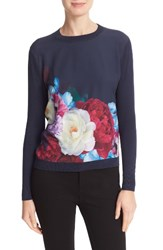 Ted Baker Women's London Islii Blushing Bouquet Woven Front Sweater