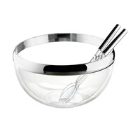 Guzzini Look 24Cm Salad Bowl And Servers Chrome