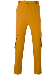 Cmmn Swdn Dakota Cargo Trousers Men Wool M Yellow Orange