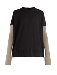 Marni Bi Colour Cashmere Sweater Black Multi