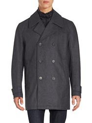 Andrew Marc New York Long Sleeve Wool Peacoat Black