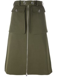 Alexander Mcqueen Military Skirt Green