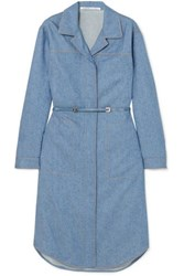 Agnona Belted Wool And Cashmere Blend Midi Dress Blue