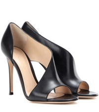 Gianvito Rossi Demi Leather Sandals Black