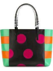 Etro Dot And Stripe Shopper Tote Multicolour