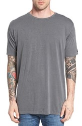 Zanerobe Men's Flintlock Longline T Shirt Pigment Grey