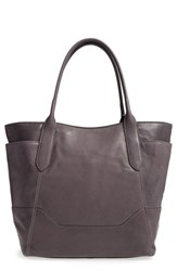 Frye Paige Leather Tote Grey Smoke
