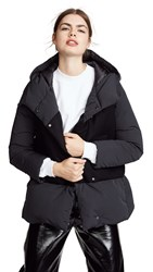 Add Down Hooded Over Jacket Black