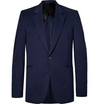 The Row Navy Michel Slim Fit Cotton And Cashmere Blend Blazer Navy
