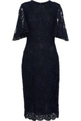 Reem Acra Woman Corded Lace Dress Navy