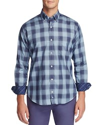 Tailorbyrd Agera Plaid Classic Fit Button Down Shirt Navy