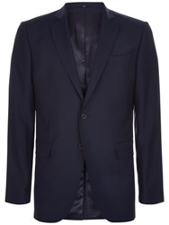 Jaeger Wool Slim Fit Suit Jacket Navy