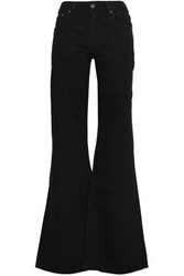 Rockins Loon Mid Rise Wide Leg Jeans Black