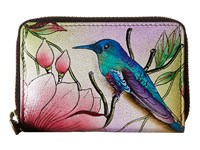 Anuschka Handbags 1110 Credit And Business Card Holder Spring Passion Coin Purse Multi
