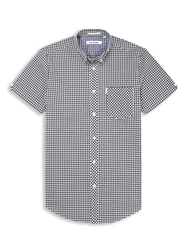 Ben Sherman Classic Gingham Check Shirt Jet Black