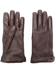 Gucci Bee Motif Gloves Brown
