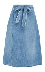 Citizens Of Humanity Donna Wrap Denim Skirt Medium Wash