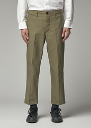 Visvim 'S High Water Chino Pants In Olive Size 2 100 Cotton