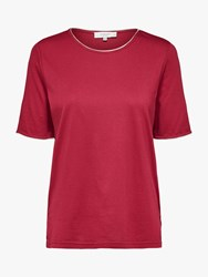 Selected Femme Lucy T Shirt Beet Red
