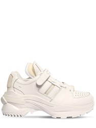 Maison Martin Margiela Union Retro Fit Leather Low Top Sneakers White